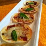 簡単!餃子の皮で『ピザ マルゲリータ』