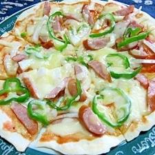 フライパンで作るクリスピーピザ
