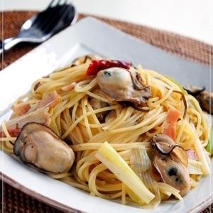 牡蠣と長ねぎの和風スパゲッティ