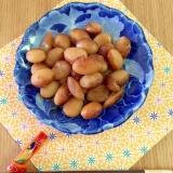 圧力鍋で20分☆きび砂糖で味わい深い♩とら豆の煮物