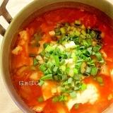 冬瓜とおぼろ豆腐のチゲ鍋風