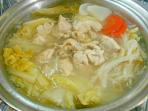 野菜たっぷり 鶏白湯鍋