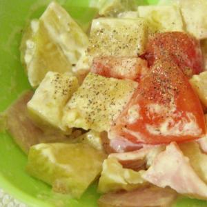 さつま芋とハムのマスタードサラダ