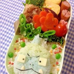 簡単キャラ弁☆おじゃる丸 アオベエのお弁当♪