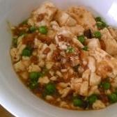 グリーンピース入り肉豆腐