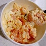 むきえびと茹で卵の甘辛マヨサラダ