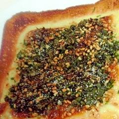ゴマ青海苔チーズトースト