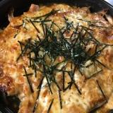 豚肉とキノコの味噌チーズ焼き