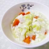 電子レンジ圧力鍋de白菜と豆腐のミルクシチュー