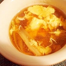 セロリとタマゴ 醤油麹でコンソメスープ♪