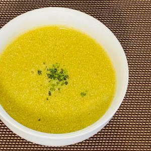 ブロッコリーと人参、玉ねぎの豆乳スープ
