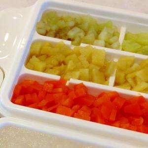 離乳食中期☆野菜キューブのフリージング