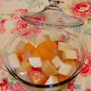 簡単でおいしい☆ フルーツ寒天♪
