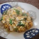 イカとレタスの卵チャーハン