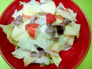 砂肝とりんごレタスのサラダ