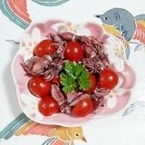 蛍イカとミニトマトのバルサミコ和え