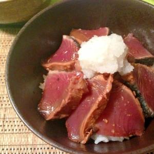 魚屋さんに教わったカツオの漬けおろし丼
