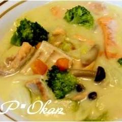 鮭アラと白菜のクリーム煮