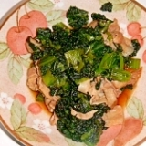 まんば(高菜の一種)と豚肉の炒め物