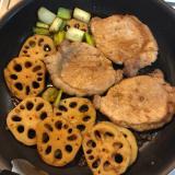 甘辛で美味しい豚肉ステーキ