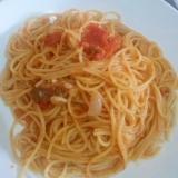 簡単!オイルサーディンとトマト缶のパスタ☆