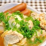 鶏ムネ肉の団子で肉豆腐◎キムチ鍋風