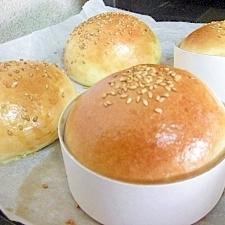 塩麹入りバターロールdeバーガーバンズ