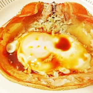 カニ味噌の卵蒸し