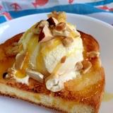 パンケーキ風 ハニーアイストースト♪