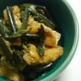 蕨と油あげの煮物