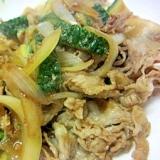 焼肉のタレでゴーヤ玉葱と豚肉炒め