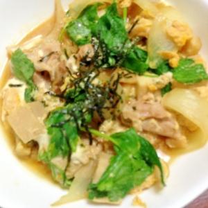 鶏と高野豆腐と筍の卵とじ【あり合わせ☆お惣菜】