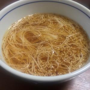 晩酌の〆に☆酸辣湯風素麺