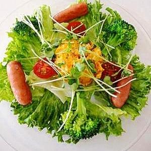 カロチンたっぷり! プレートサラダ