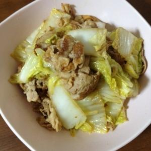 シンプルすぎる!白菜と豚肉の柔らか炒め