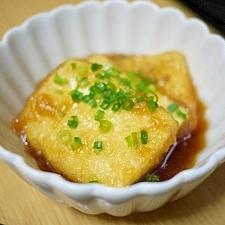 フライパンで気軽に揚げだし豆腐♪