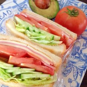 ハムとチーズと野菜のサンドイッチ☆沼サン