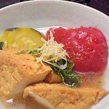 トマトまるごと♪夏野菜の洋風おでん