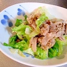 レタスと牛肉の塩麹炒め