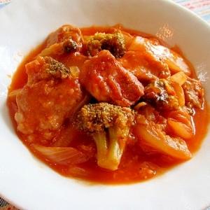 豚ヒレと白菜のとろとろトマト煮込み♪