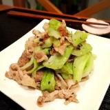 豚肉とキャベツの梅肉炒め