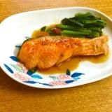 脂と甘みが絡んで美味しい鮭の鍋照り焼き*簡単味付け