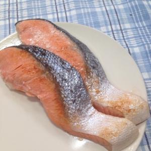 フライパンdeふっくら焼き鮭♪