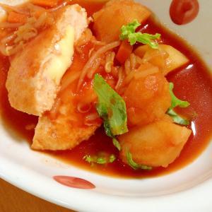 ハンバーグ☆トマトコンソメスープ
