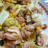 ❤ 鶏カルビ&キノコ&キャベツの炒め物 ❤