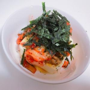簡単!ネバネバキムチ豆腐
