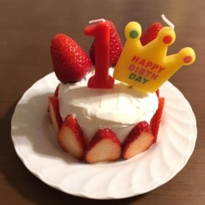 1歳☆誕生日ケーキ