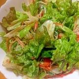 だいこんおろしのたれオリーブオイルの野菜サラダ
