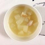 冬瓜、鶏もも肉のスープ