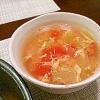 レタスと卵の中華スープ